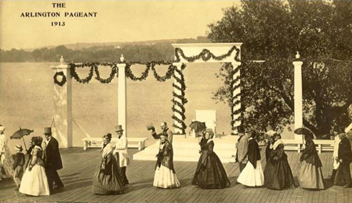 Arlington Historical Society members at the Arlington Pageant in 1867