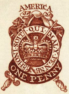 The 1765 Stamp Act created a direct tax of one penny per sheet on newspapers and required that the newspapers be printed on stamped paper purchased from government agents.