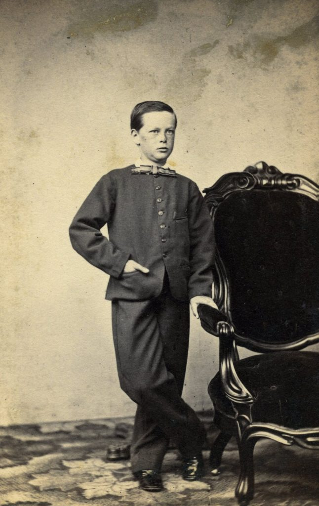 "A circa 1862 ""carte de visite"" format photograph of Edwin S. Farmer, the last of three generations in his family to reside at 1173 Massachusetts Avenue."